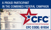 A proud participant in the combined federal campaign, CFC code 64934
