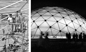 The geodesic dome at the 1956 Jeshyn Fair.