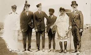 Princess Fatima and her entourage in the U.S. capital.