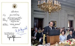 White House luncheon for Prime Minister Mohammed Maiwandwal.