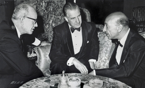 Vice President Spiro Agnew (center) with Ambassador Robert G. Neumann and King Zahir Shah at Gulkhana Palace.