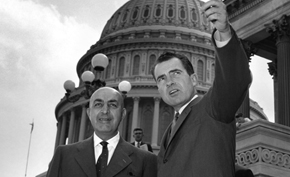 Prime Minister Daoud and Vice President Nixon visit the U.S. Capitol Building.