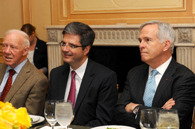 Left to right: Congressman James Oberstar, Senior Adviser, National Strategies, LLC (left), Ambassador of France to the U.S., François Delattre (center), Congressman Bart Gordon, Partner, K&L Gates (right).