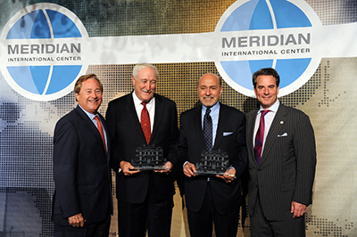 Global Leadership Awardees, Hon. Sean O'Keefe and M. Shafik Gabr with Gov. James J. Blanchard & Ambassador Stuart W. Holliday