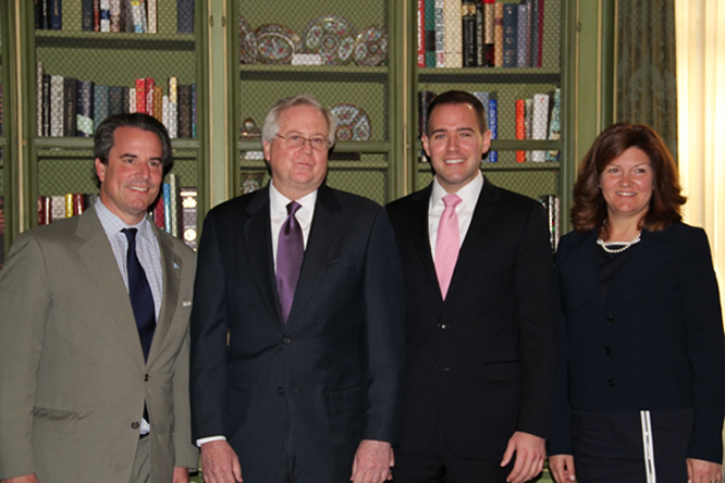 Meridian President Amb. Stuart Holliday, Editor and Chief Content Officer for US News and World Report Brian Kelly, Managing Director of the Gallup World Poll Jon Clifton, and Executive Director for the Economic Club of Washington, DC Mary Brady