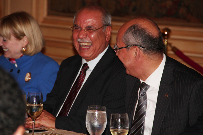 Assistant Secretary of State, Anne Patterson, Arab League Ambassador Mohamed Al Sharif, and AmCham CEO, Hisham Fahmy.
