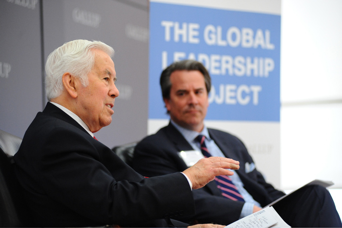 Senator Richard Lugar and Ambassador Stuart Holliday