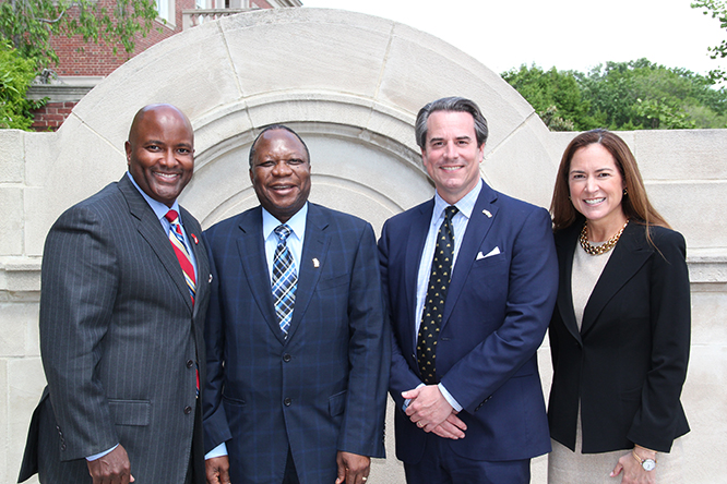 Curtis Etherly, His Excellency Mninwa Mahlangu, Ambassador Stuart Holliday, Lee Satterfield