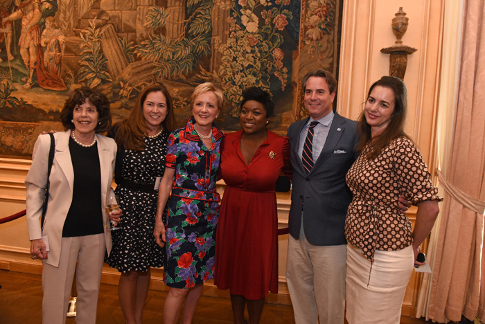 Left to right: Didi Cutler, Lee Satterfield, The Honorable Ann Stock, The Honorable Deesha Dyer, Ambassador Stuart W. Holliday and Gwen Holliday