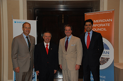 From left - Patrick Durkin, Barclays; Ambassador of Mexico, Eduardo Medina-Mora; Ambassador Stuart Holliday; and Shawn PM Golhar, Barclays