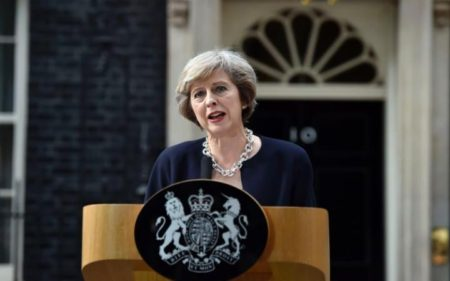 The Honorable Theresa May, Prime Minister of the United Kingdom, 2004 IVLP Alumni.