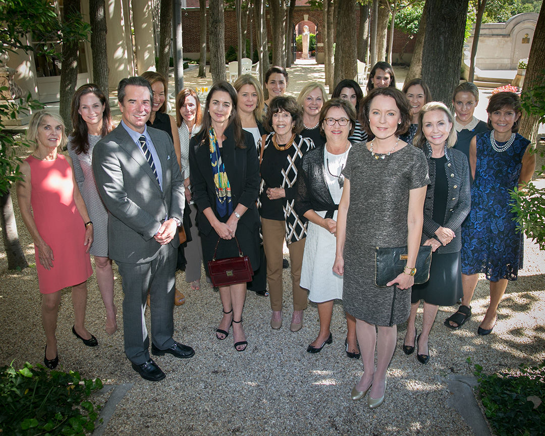 Meridian President and CEO, Ambassador Stuart Holliday and guests join Mrs. Haukio for a group photo. Photo by Jenni Lehman.