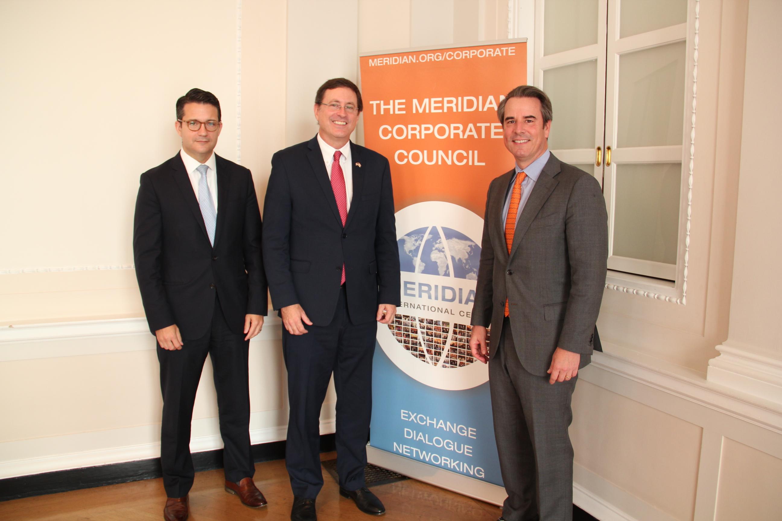 Mr. Jason Grove, Ambassador Macaya, Ambassador Holliday