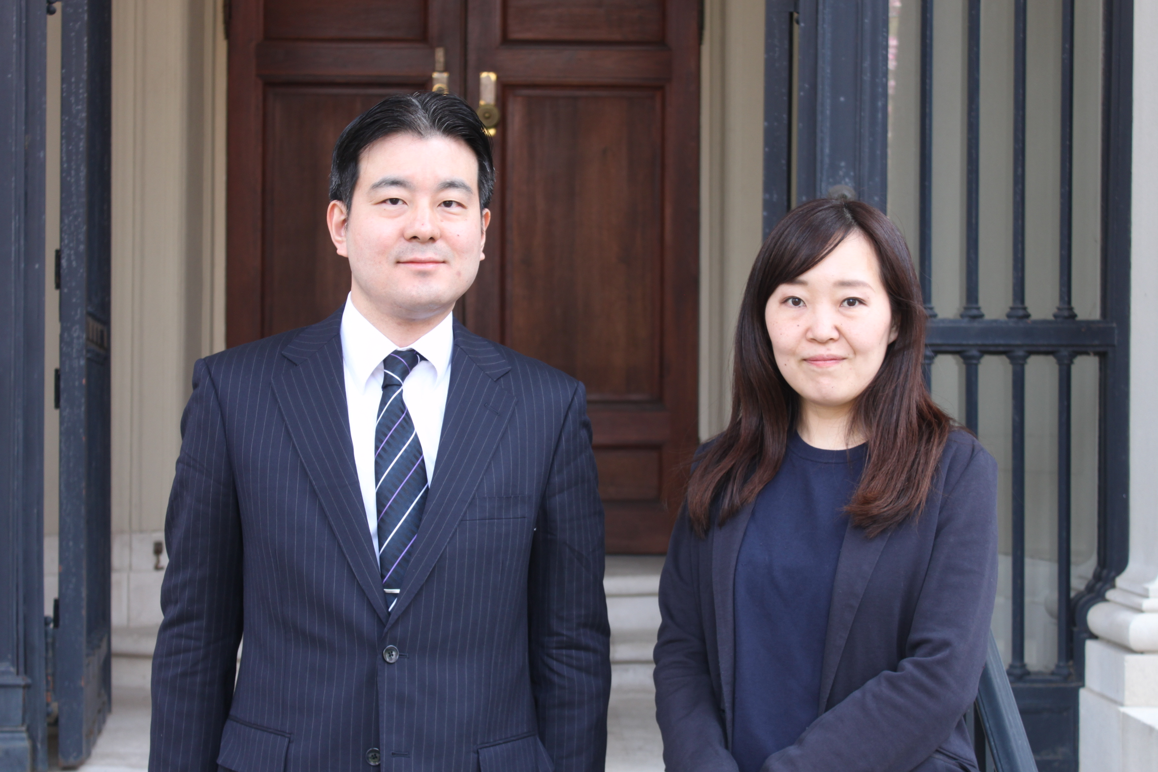 2018 G3P Fellows Mr. Toshihisa Sago and Ms. Yuna Natsumi following their formal program opening.