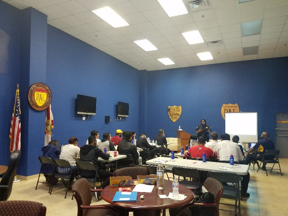 IVLP participants meet with the Jacksonville Police Athletic Leage (PAL)