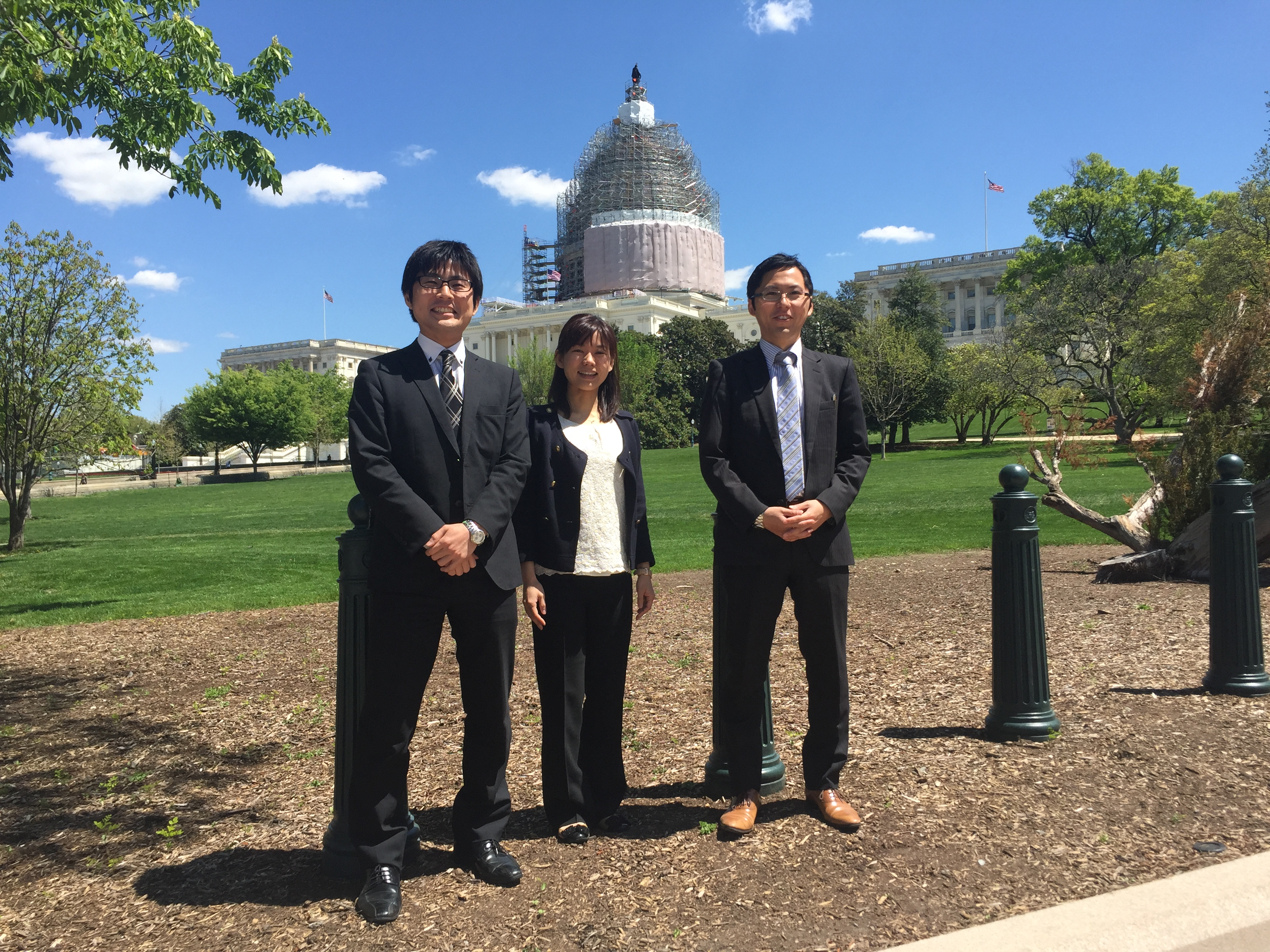 2015 G3P Fellows take a group photo on Capitol Hill
