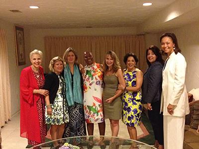 From L to R: Jan Duplain, Karen Maples, Michele A. Manatt, Ambassador Seretse, Robin Diamond, Shahin Mafi, Allyson McKithen, and The Hon. Sharon Wilkinson