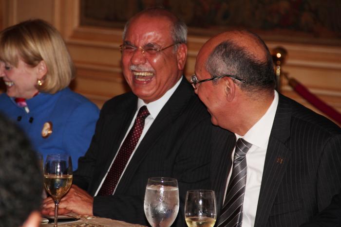 Assistant Secretary of State, Anne Patterson, Arab League Ambassador Mohamed Al Sharif, and AmCham CEO, Hisham Fahmy.