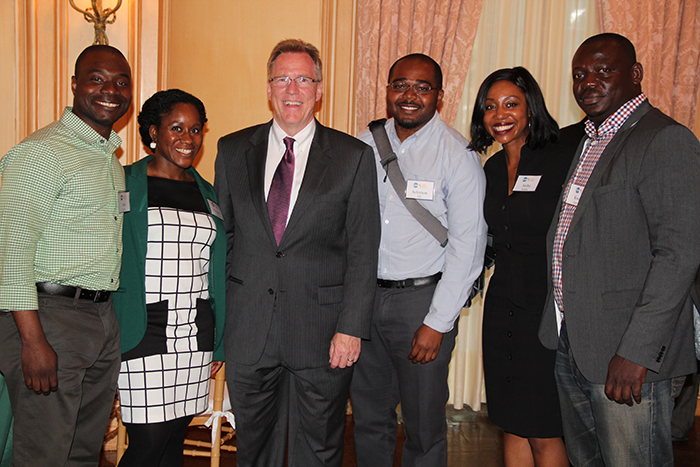 YAP's Leadership team with Deputy Assistant Secretary Gilmour