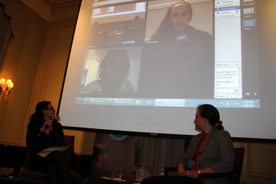 Ms. Gould brings the filmmakers, Tanya Hamilton and Paola Mendoza, into the conversation via Adobe Connect