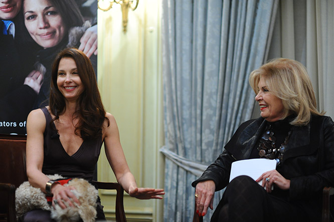 Celebrity and Advocate Ashley Judd and The Honorable Patricia de Stacy Harrison, President & CEO, Corporation for Public Broadcasting and Vice Chair of Meridian's Board of Trustees