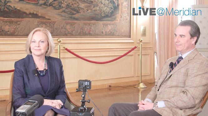 Ambassador Stuart Holliday interviews Ambassador Laurie Fulton, former U.S. Ambassador to Denmark and Meridian Trustee