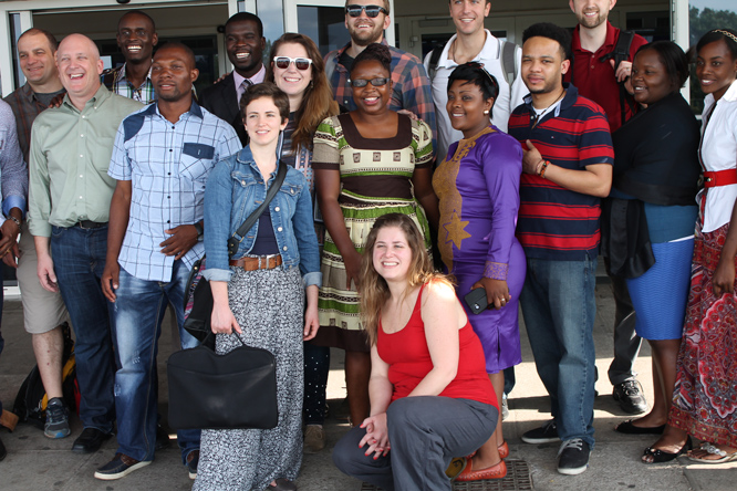 American Mentors are welcomed at Harare International Airport by Zimbabwean Fellows