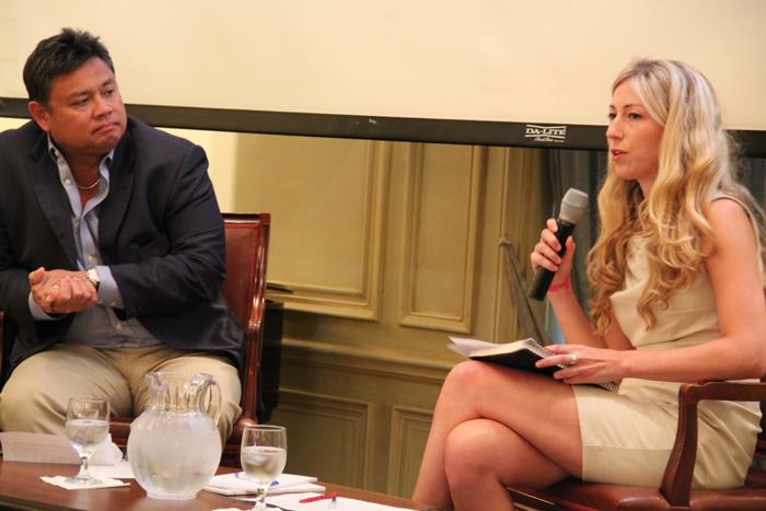 Samuel Tumiwa and Moderator Kalifi Ferretti-Gallon discuss Where Heaven Meets Hell.