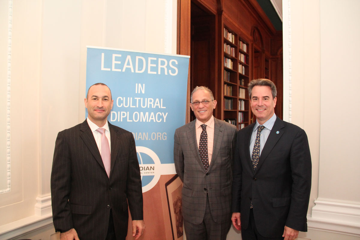 Mr. Eric Loeb, Meridian Corporate Council chair,Senior Vice President of AT&T; Fred P. Hochberg, Chairman, EXIM; Ambassador Stuart Holliday, President and CEO, Meridian International Center