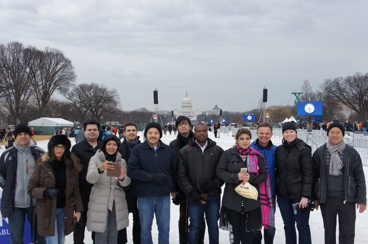 IVLP Participants take a group photo at the Inauguration Ceremony