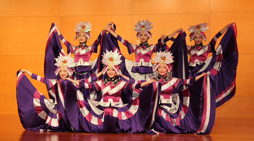 Dancers welcomed in the Year of the Dog at the Embassy of the People's Republic of China.