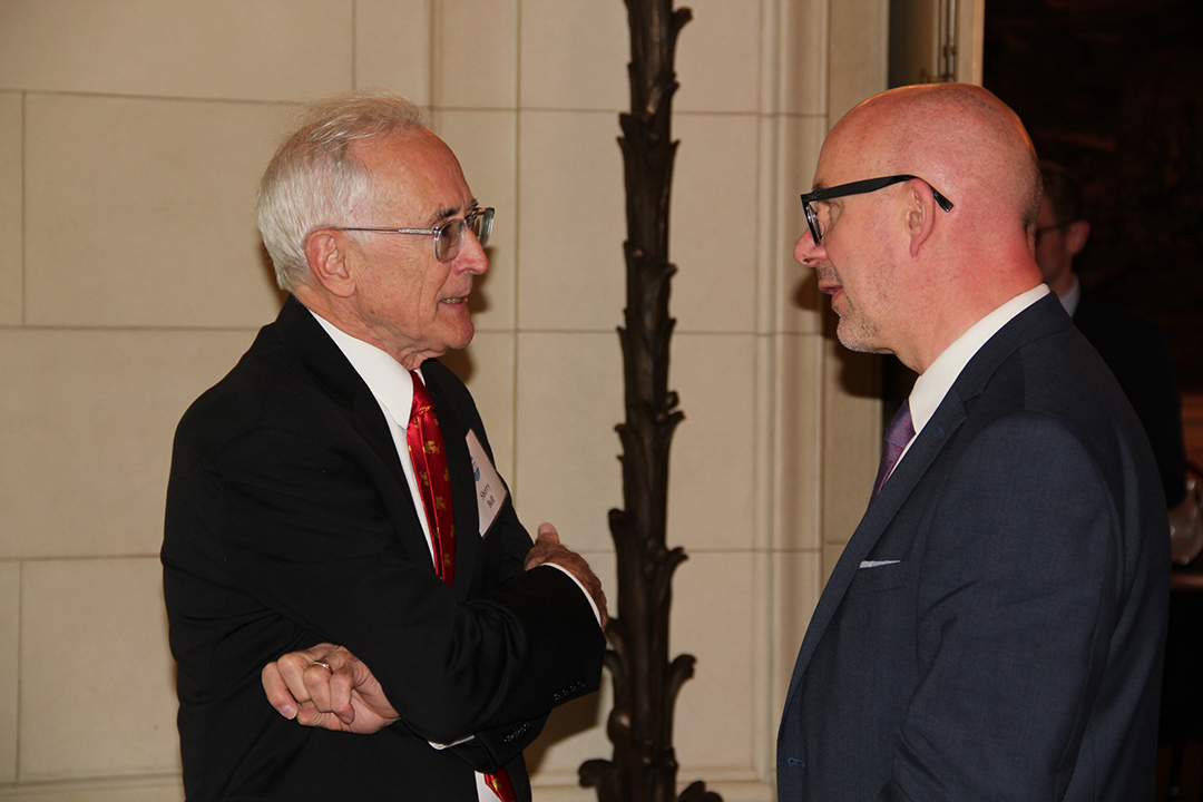 Sheridan Bell; Matthew Western, MPSheridan Bell, Senior Program Officer for Meridian's Professional Exchanges Division, speaks with British Parliamentarian Matthew Western, Member of the Labour Party.