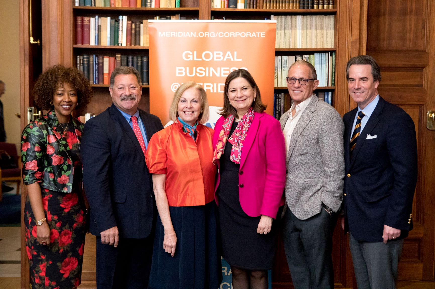 Amb. Martha Bárcena Coqui with Meridian CEO Amd. Stuart Holliday and members of Meridian's Corporate Council.